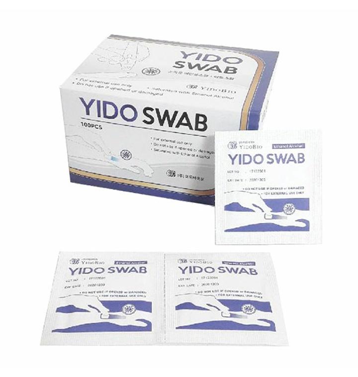 YIDO 이도 스왑 100매/알콜스왑/알콜솜/소독솜/이스왑