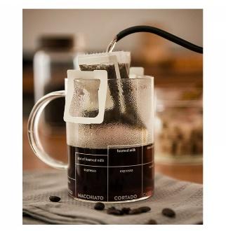 [해외] 얼음컵 언더락잔 아이스커피잔 아이스아메리카노잔 하이볼잔  154417   미국 멀티 ccino 머그잔 유리 스케일 커피 컵 투명 머그잔 측정 컵 주스 컵 480ML - UnKnown