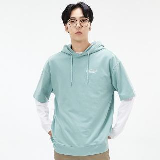 패션플러스 [체이스컬트]공용 오버핏 라벨 포인트 후드 반팔 티셔츠 AEZU5802A0S - NO.1 패션전문 온라인몰