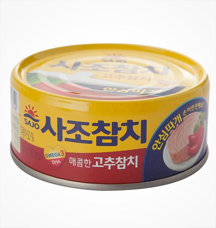 [슈퍼마트] 사조 안심따개 고추참치 100g*3캔
