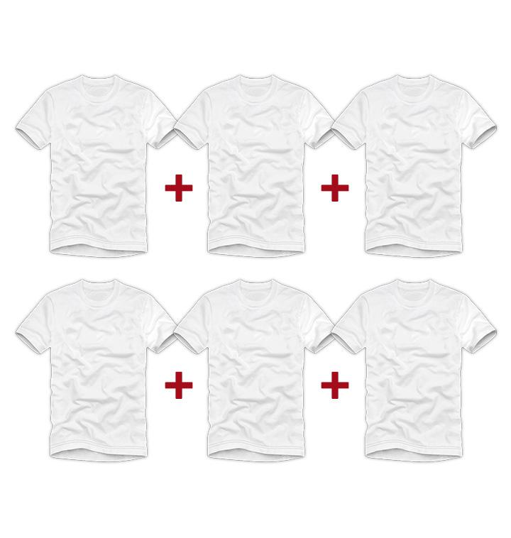[매드문] 코마사 반팔 티셔츠 6장세트