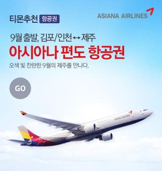 아시아나 제주 편도 항공권
