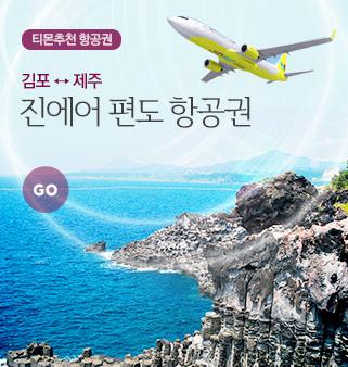 [김포出] 진에어 제주 편도항공